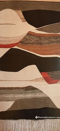"""Your Daily Dose of Inspiration! New Landscape, original handwoven tapestry by Joan Potter Loveless, hand-dyed wool, natural dyes, handspun, 90"""" x 36"""", 1985. Enjoy!"""