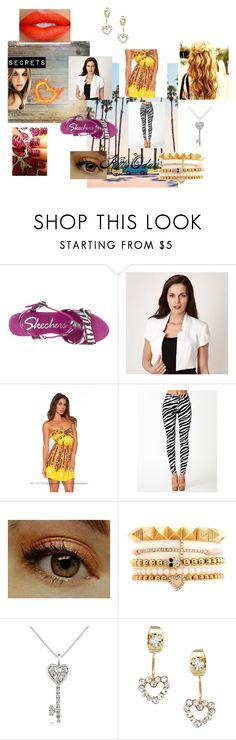 """""""Hello Capitol"""" by hey-its-cass ❤ liked on Polyvore featuring Skechers, Star by Julien Macdonald, Sisters Point, Charlotte Russe, Forzieri, ASOS and Lanvin"""