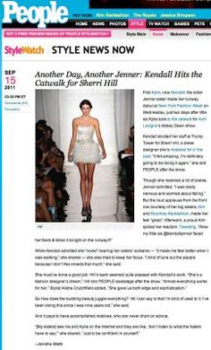 Kendall Jenner in People at the Sherri Hill NYFW show