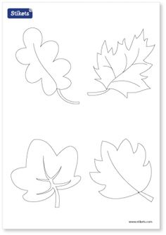 Mollie makes, Felt Leaf Template--cut out of craft foam to make ...
