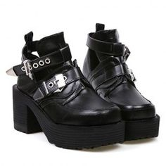 $21.87 Casual Women's Boots With Buckle and Square Toe Design
