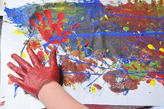 Day 16- Make homemade finger paints and then run through the sprinklers.