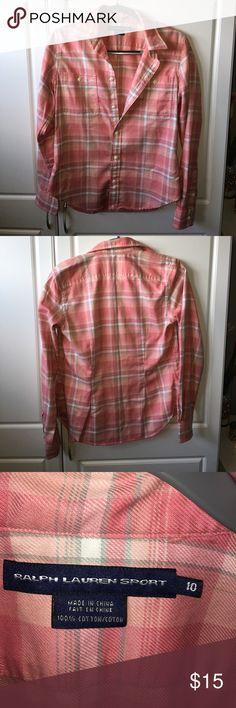 Ralph Lauren Sport button up Ralph Lauren Sport button up. Worn once. Size 10. 100% cotton. Ralph Lauren Sport Tops Button Down Shirts