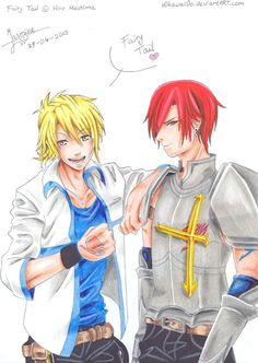 Luke Heartfilia and Azre Scarlet by ~o0Kawaii0o