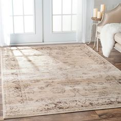 nuLOOM Oriental Vintage Viscose Persian Natural Area Rug - Overstock Shopping - Great Deals on Nuloom 7x9 - 10x14 Rugs