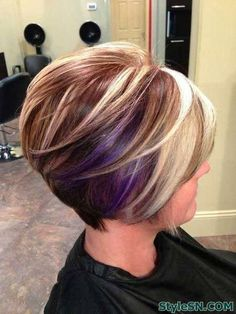 The Pop of Colors Bob Hairstyle -StyleSN