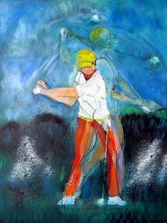 Expo golfschilderijen Alphons Arts