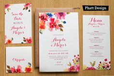 Convites de Casamento | Ilustração e Aquarela | Vestida de Noiva | Blog de Casamento por Fernanda Floret