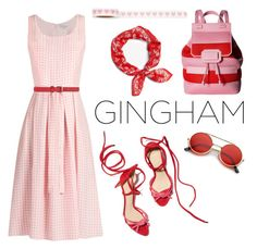 """""""Gingham"""" by janicevc on Polyvore featuring HVN, Boutique Moschino, Versus, rag & bone and ZeroUV"""