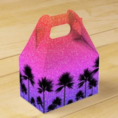 Tropical Palm Trees Glamour Favor Box