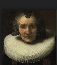#Rembrandt: #Portrait of Margaretha de Geer (detail)