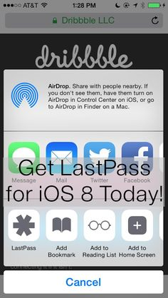 Ready for iOS 8? LastPass is, too! Check out the new features we're offering to make mobile browsing even easier by downloading or updating the LastPass app from the App Store. | #LastPass #iOS8 #update #app #mobile #Apple