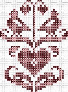 Valentine's Day. 31 x 42 squares.  Appleseed Prim: Free Patterns