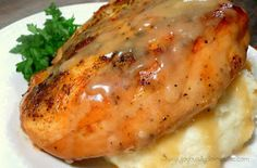 """Joyously Domestic: Slow Cooker """"Roasted"""" Herb Chicken with Gravy"""