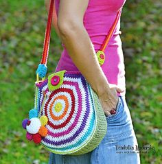 Big rainbow bag - crochet bag pattern, DIY
