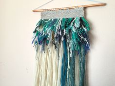 Weaving Wall Hanging | Woven Wall Hanging | Yarn Wall Hanging | Wall Weaving | Textile Wall Hanging | Made to Order | Medium Scrappy by ashleylthurman on Etsy https://www.etsy.com/listing/228740926/weaving-wall-hanging-woven-wall-hanging