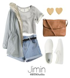 """LA Date with Jimin"" by btsoutfits ❤ liked on Polyvore featuring H&M, Wrap, Uniqlo, Pieces and Jennifer Meyer Jewelry"