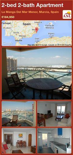 2-bed 2-bath Apartment in La Manga Del Mar Menor, Murcia, Spain ►€184,950 #PropertyForSaleInSpain