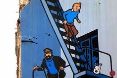 ❤ #Streetart / #Hergé / #TinTin / #Cartoons / #BrusselsLife / www.brusselslife.be / #ErfgoedBrussel / #HapAppBrussels /  #ErfgoedBelgië /  #IkbenBrussel / #IkbenBelg / #TrotseBelgen / #ProudBelgians / #ILikeBelgium / #BelgiumIsBeautiful / #Belgientourismus ❤
