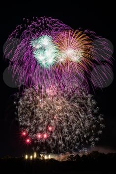 Beautiful colorful fireworks - royalty free photos by franky242 photography - buy and download this photo online