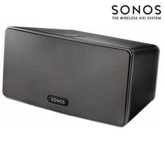 Buy SONOS PLAY:3 Wireless Multi-room Speaker - Black | Free Delivery | Currys