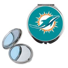 Check out your winning smile, while you root on the Miami Dolphins with this compact mirror. Beauty is in the holder of this officially licensed NFL product that features your team logo. Shop now for