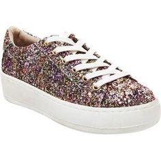 Women's Steve Madden Bertie Platform Sneaker Glitter Multi