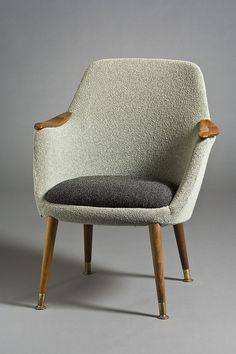 Henry W. Klein; Teak and Brass Armchair for Modell Møbler A/S, 1955.