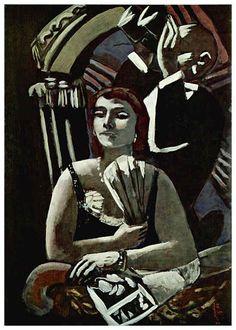 Die Loge (1928) by Max Beckmann (German 1884 – 1950)