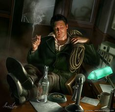 The bootlegger from Arkham Horror by Henning Ludvigsen, *henning on deviantART