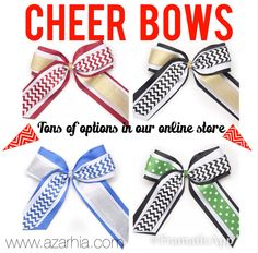Large Cheer Bows- tons of options on our website! www.azarhia.com