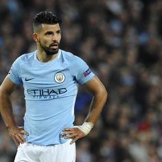 Manchester City striker Sergio Aguero could make a quick return to action after breaking a rib, as the Premier League leaders face Stoke City on Saturday. Sergio Aguero, Zen, Kun Aguero, Stoke City, Football Boys, Car Crash, Manchester City, Soccer Players, Blue Moon