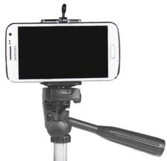Cell Phone Tripod Adapter, iPhone 6 Plus 5S 5C 5 4s 4 Mount Clip Holder Connector Head, Smartphone Attachment for Samsung Galaxy S3 S2 Note 2 **Make Better Videos and Selfie Pictures with your Cell Phone** - DaVoice DaVoice http://www.amazon.com/dp/B00OS9E6AO/ref=cm_sw_r_pi_dp_Izszvb0XW78DB