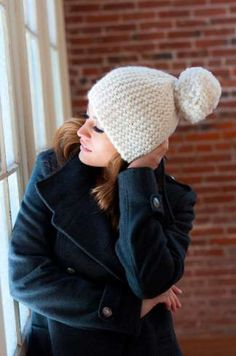 2b8bbd087dccc Short Row Hat in Plymouth Yarn De Aire
