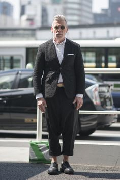 Nick Wooster in Thom Browne for Black Fleece Lace Blazer
