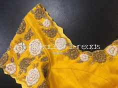 Needles n Threads, Nish*tha celebrations,Kings court avenue, Nellore Hand Work Blouse Design, Simple Blouse Designs, Saree Blouse Neck Designs, Stylish Blouse Design, Maggam Work Designs, Embroidery Suits Design, Designer Blouse Patterns, Maggam Works, Aari Embroidery