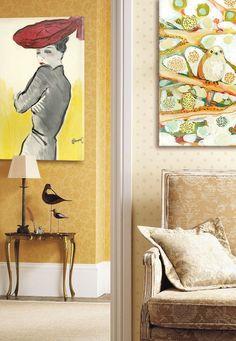 Vintage Wall Art - so pretty!!