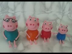 Peppa Pig Car, Peppa Pig Family, Pippa Pig, Familia Peppa Pig, George Pig Party, Peppa Pig Birthday Cake, Fondant Tutorial, Fondant Figures, Cake Decorating Tutorials