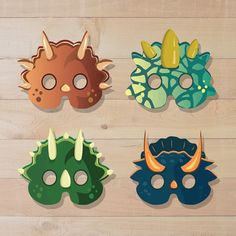 Dinosaur masks dinosaur birthday dinosaur costume kids