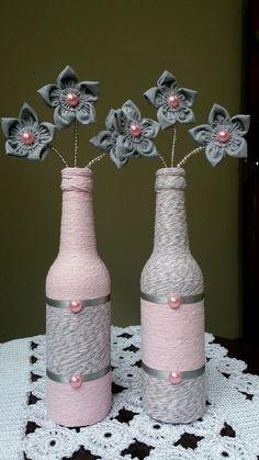 Garrafas Decoradas feitas especialmente para você. Mais de 6.763 Garrafas Decoradas: garrafas decoradas com renda, garrafas pintadas, garrafas de vidro decoradas, enfeite de mesa com garrafa, garrafas decoradas com barbante