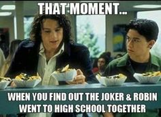 Joker and Robin in high school