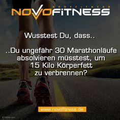Wusstest Du, dass Du ungefähr 30 Marathonläufe absolvieren müsstest, um 15 Kilo Körperfett zu verbrennen?