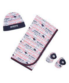 Look at this New England Patriots Blanket, Beanie & Bootie Set - Infant on #zulily today!
