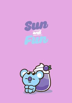 Sun and Fun with Koya🐨 K Wallpaper, Wallpaper Iphone Disney, Kawaii Wallpaper, Instagram Frame, Bts Backgrounds, Bts Drawings, Line Friends, Bts Chibi, Bts Wallpaper