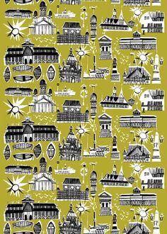 Helsinki-Helsingfors fabric | Cotton Fabrics | Marimekko