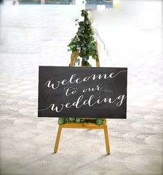 Welcome to Our Wedding PRINTABLE Sign Chalkboard by ThePaperWalrus