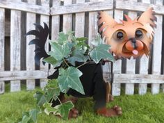 Personalized Yorkie Terrier Dog Garden by IngridsSecretGarden, $45.00