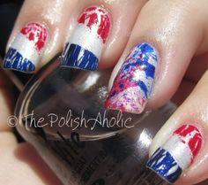 The PolishAholic: 4th of July Mani Take One!