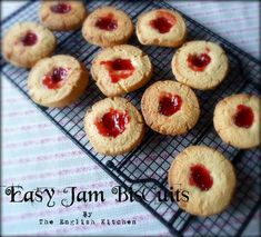 Easy Jam Biscuits (Cookies)from The English Kitchen
