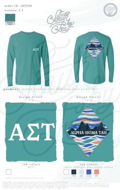 Alpha Sigma Tau | AST | Mountain Shirt Design | South by Sea | Greek Tee Shirts | Greek Tank Tops | Custom Apparel Design | Custom Greek Apparel | Sorority Tee Shirts | Sorority Tanks | Sorority Shirt Designs
